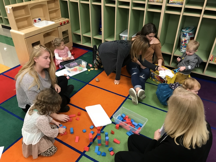 Bright Start led a playgroup for our littlest kiddos.