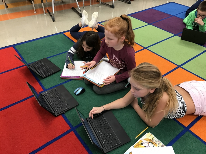 Brynlei, Alexia, and Elin research together