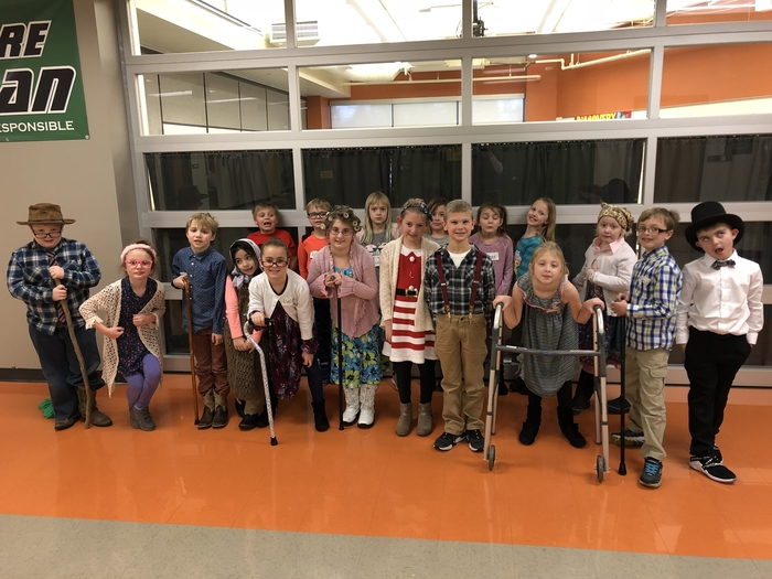 Happy 100th Day from 100 year old second graders!