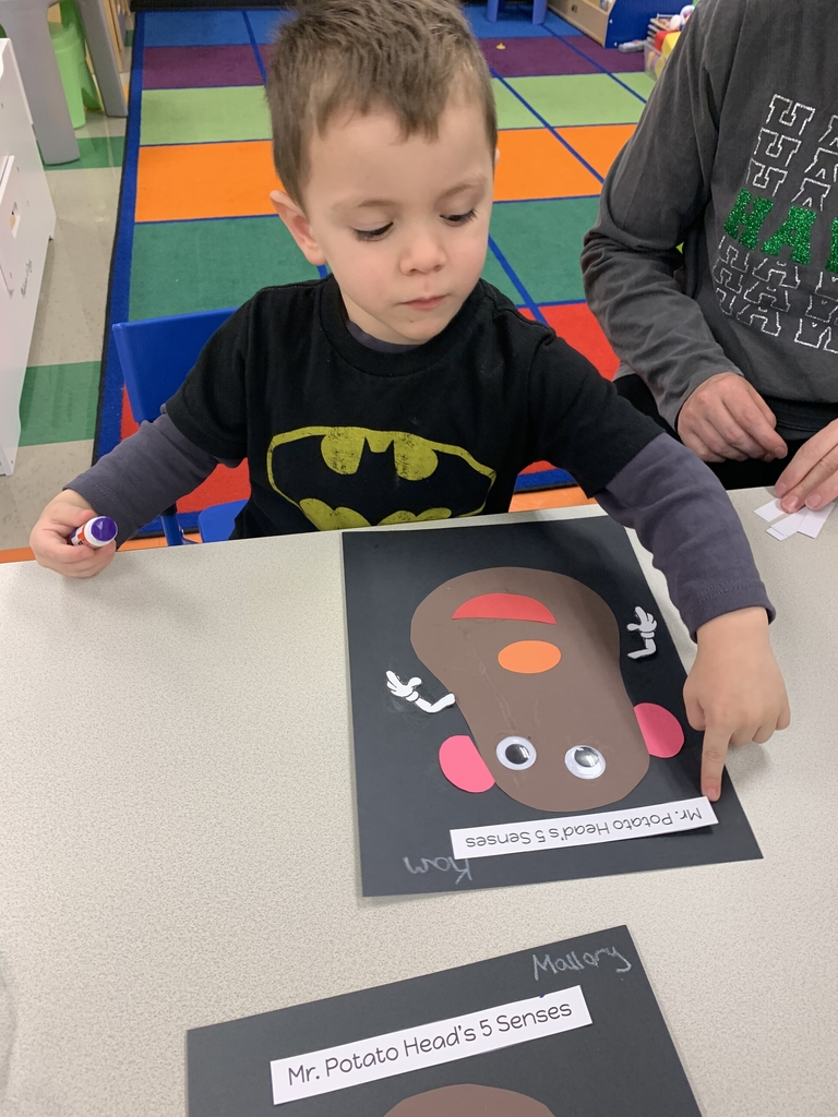 Mr. Potato Head craft. He has eyes to see, ears to hear, a nose to smell, a tongue to taste, and hands to touch.