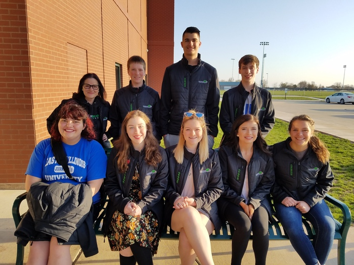 Meridian journalism takes 8 students to state competition.  Good luck!